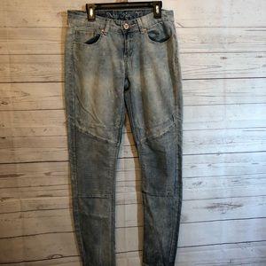 Women's indigo rein light skinny Moto jeans size 7